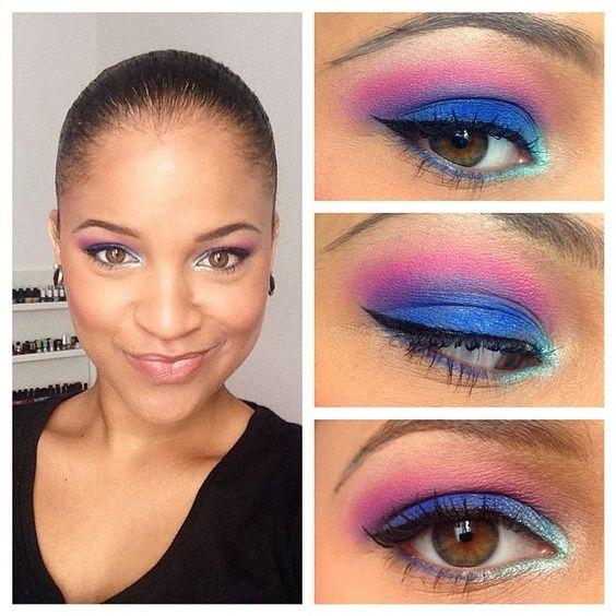 Make-Up du Jour, Bonjour ! #MetsDeLaCouleurDansTaVie #ColorBlock #Makeup #ColorfulMakeup #Color #Mu #MU #MUOTD #Chaos #UrbanDecay #Sleek #Lorac #Jordana #AnastasiaBeverlyHills