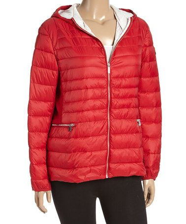 Loving this Red Quilted Jacket - Plus on #zulily! #zulilyfinds