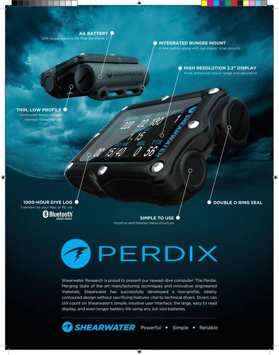 The new Perdix computer from Shearwater Research. Smaller and Sleeker design. Pre-orders now  www.scubatechdivers.com  Embedded image permalink