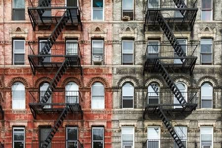 Old Brick Apartment Buildings In The East Village Of Manhattan Brick Apartments Apartments Exterior City House
