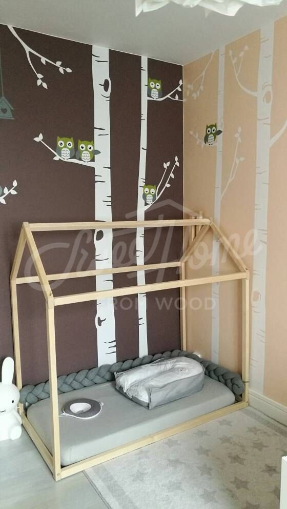 Toddler Bed Play House Bed Frame Children Bed Bunk Bed Home Etsy Baby Room Colors Colorful Kids Room House Frame Bed