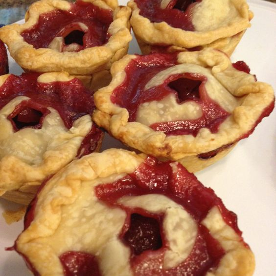 Day 75: mini cherry pies...Delish!