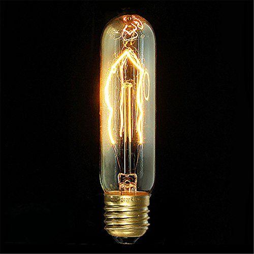 PureLumeTM Vintage Alt-Messing Schmucklampe Pendeleuchte Hängelampe mit Edison Nostalgie 40W Glühbirne