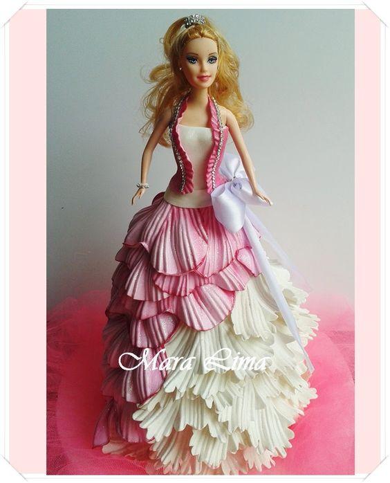 ... de EVA Tutorial de bonecas vestidos em eva Pinterest Artesanato