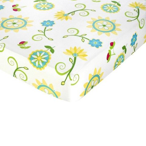 Sweet Jojo Designs Layla Fitted Crib Sheet - Print