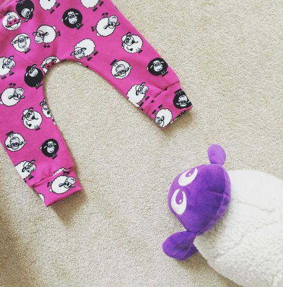 Pink Shaun the Cool Sheep  Baby & Toddler Leggings – Made to Order 0 Months - 4 Years by BabyBrainApparel on Etsy