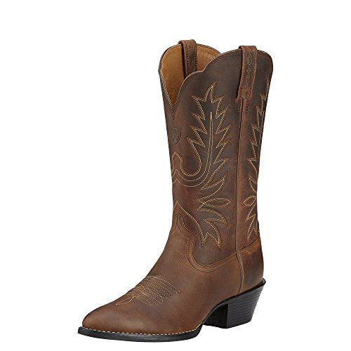 Ariat Womens Heritage Western R Toe Western Cowboy Boot Distressed ...