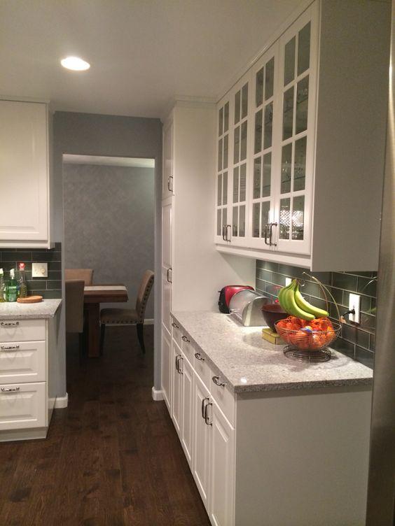 Ikea White Akrum Cabinets With Atlantic Salt Countertops Original Handscrape