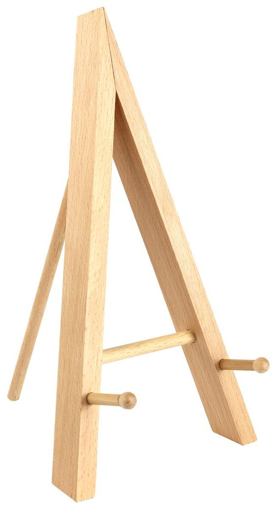 Wood Table Top Easel, Standard Tripod Design, 5.25 x 9.375 - Natural $3.95 each 5-25 quantity