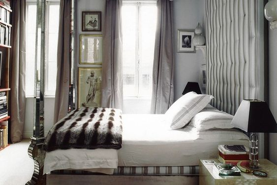 image: Interior Design, Fur Throw, Miles Redd, Master Bedroom, Beautiful Bedrooms
