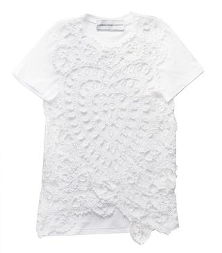 Crochet lace heart tee