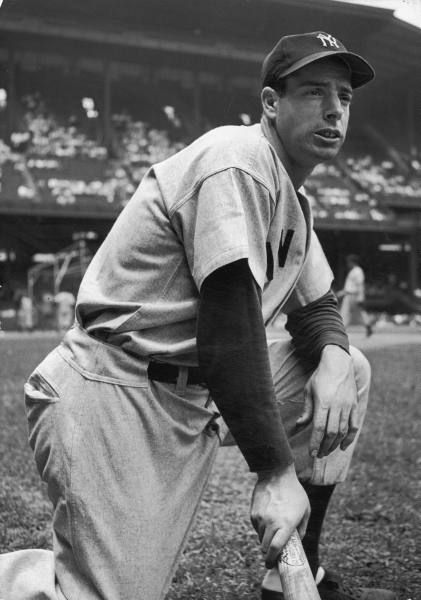 Joe DiMaggio was the first player on the New York Yankees to hit two home runs in one inning. He played center field for the New York Yankees from 1936-1951.