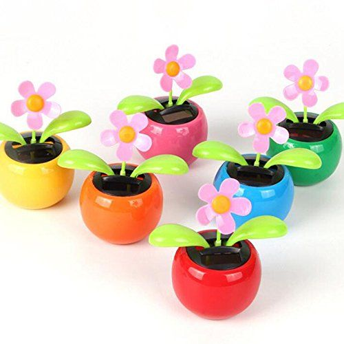 Solar Dancing Flower Risingmed Solar Powered Flip Flap Flower Happy Dancing Sunflower Car Dashboard Office Desk H Flower Toy Solar Flower Easter Gifts For Kids