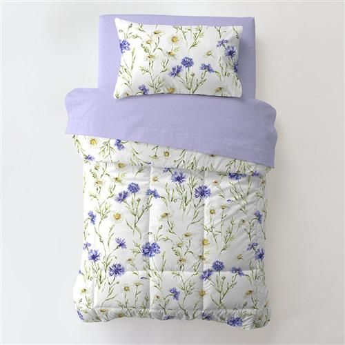 Lilac And White Floral Toddler Bedding In 2020 Floral Toddler Bedding Toddler Bed Mattress Toddler Bed