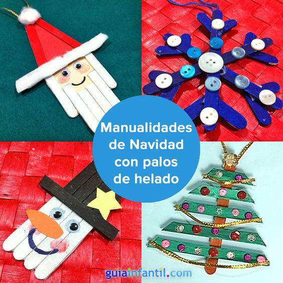 Manualidades de navidad con palitos de helado para ni os - Manualidades con fieltro para navidad ...