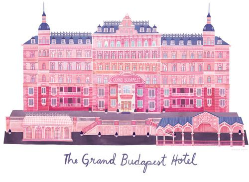 Grand Budapest Hotel Wallpaper: The Grand Budapest Hotel. Illustrated By Unknown Artist