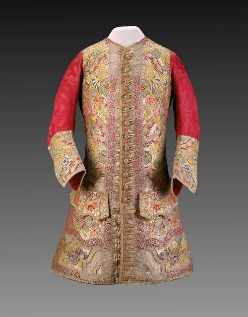 1720s sleeved waistcoat, MFA Boston.
