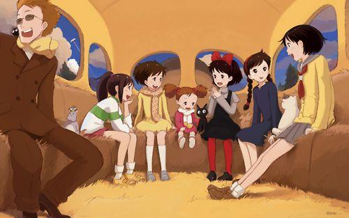 Next stop please, studio ghibli :)  Chihiro, Satsuki, Mei, Jiji, Kiki, Sheeta, Shizuku, and Muska. <3
