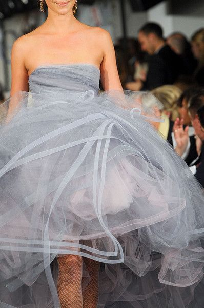 Grey for weddings! Oscar de la Renta Fall 2012