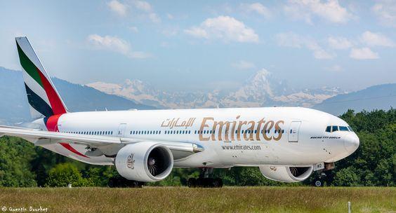 Boeing 777-200LR - Emirates - A6-EWD | GVA/LSGG