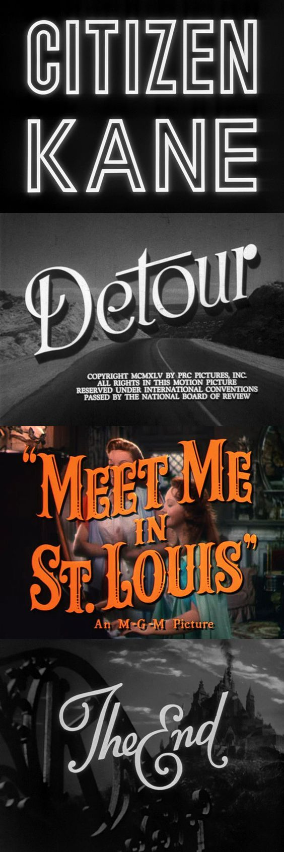 A site full of movie title stills is like a candy store for vintage and film lovers alike.