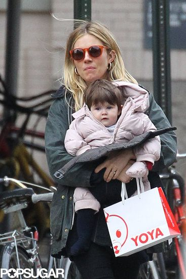 Sienna and Marlowe Bond With Robin Wright Over Their Guys' New Show: Sienna Miller carried Marlowe Sturridge for a day of shopping in NYC.