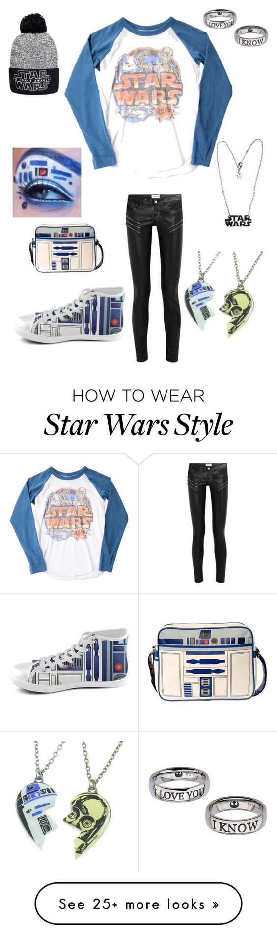"""Star Wars!!!!!! ❤️☺️"" by dreamturtlegirl on Polyvore featuring Junk Food Clothing, Yves Saint Laurent and R2"
