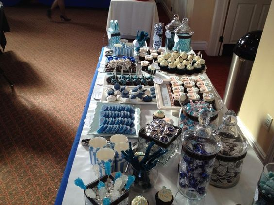 Baby Shower Candy And Dessert Buffet Tablescape By