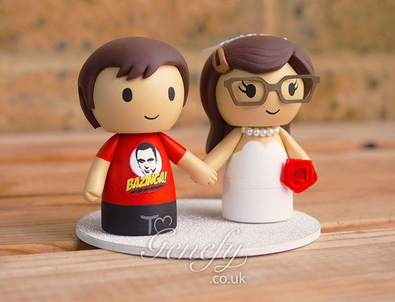 Big Bang Theory - Sheldon and Amy wedding cake topper by GenefyPlayground https://www.facebook.com/genefyplayground: