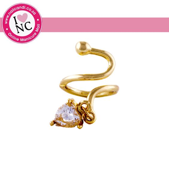 Nail Ring with Charm - only available in gold