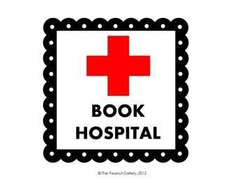 a FREE book hospital sticker.
