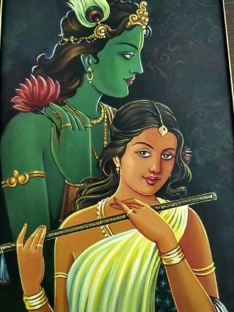 Very Beautiful Radha Krishna Painting Krishna Art Lord Krishna