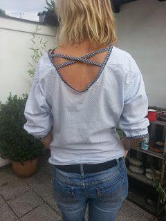 Aus Hemd wird Bluse #upcycling #nähen #bluse #hemd