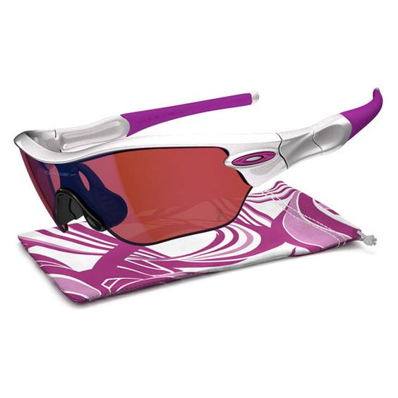 oakley womens sports sunglasses  oakley women's radar edge sunglasses breast cancer awareness pearl w/g40 lens oo9184