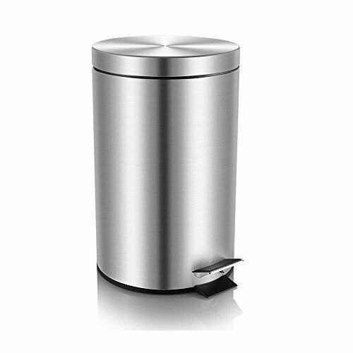 Mini Trash Can With Lid Soft Close Magdisc Round Bathroom Trash