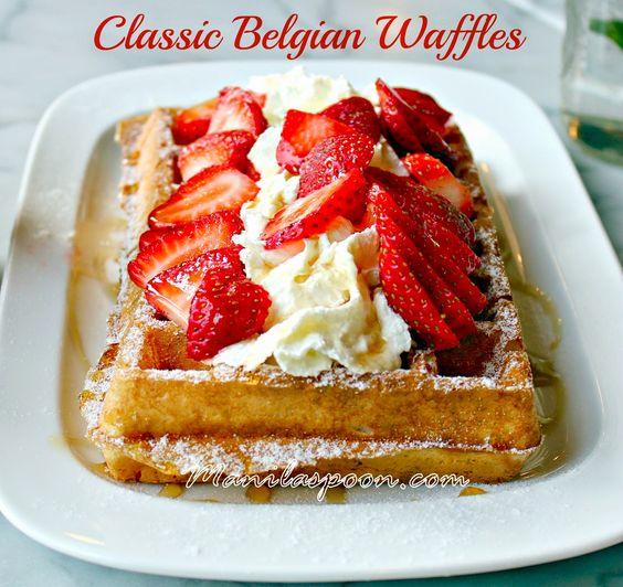 Waffles, Egg whites and Breakfast on Pinterest