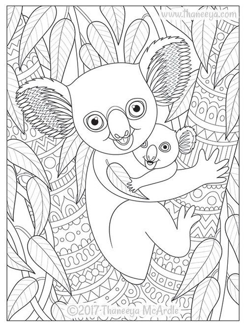 Delightful Animal Families Coloring Book By Thaneeya Mcardle Thaneeya Com Family Coloring Pages Farm Animal Coloring Pages Family Coloring