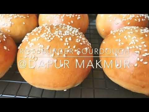 Resep Roti Burger Sourdough Youtube Di 2020 Resep Roti Kue Kering Kue