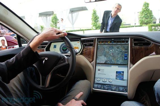 """We still marvel at the Tesla 17"""" screen."""