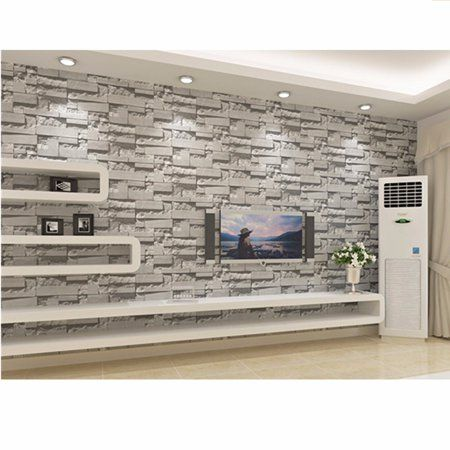 Dark Grey Brick Wallpaper Textured Waterproof For Home Design And Room Decoration Super Large Size Brick Wallpaper Living Room Brick Wallpaper Stone Wallpaper