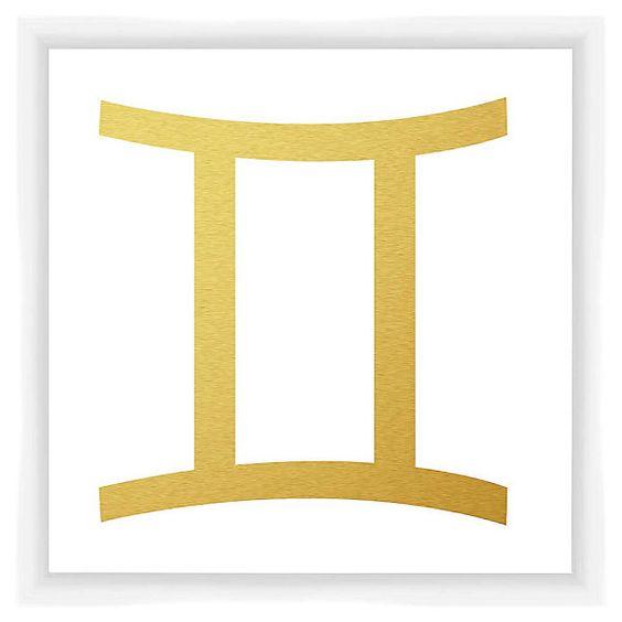 One Kings Lane - Refresh Your Shelves - Gemini Sign, Gold