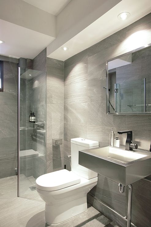 Industrial bathroom space sense for Small bathroom design singapore