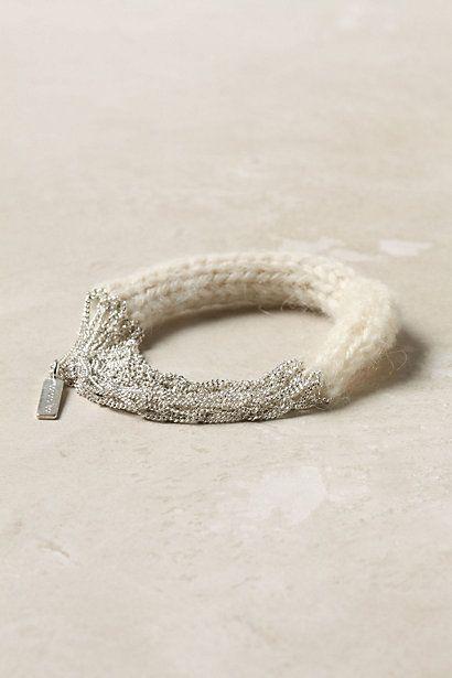knit bracelet - anthropologie