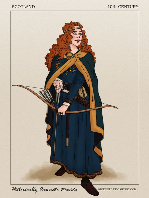 """Historically Accurate Merida by Wickfield.deviantart.com on @DeviantArt - From """"Brave""""; click the pin for a thorough historical description"""