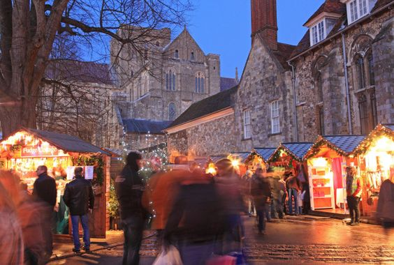 (PHOTO: Alamy)  Britain's best Christmas markets 2016:  Winchester  Winchester Christmas Market is recognised as one of the best in Europe, attracting more than 350,000 visitors each year. Traditional wooden stalls are set up in the Cathedral's historic Close - a perfect setting for festivities. Stock up on British jewellery, glass and decorations. Dates: 18 November to 20 December 2016. Stay: Lainston House Hotel