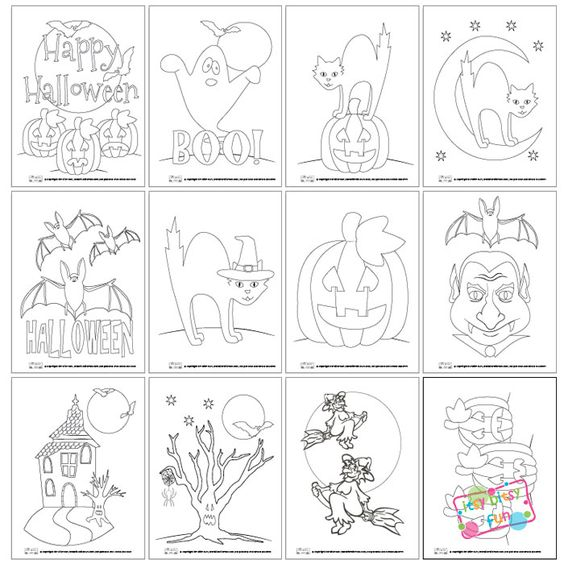 Fun Halloween Coloring Pages for Kids - Free Printable: