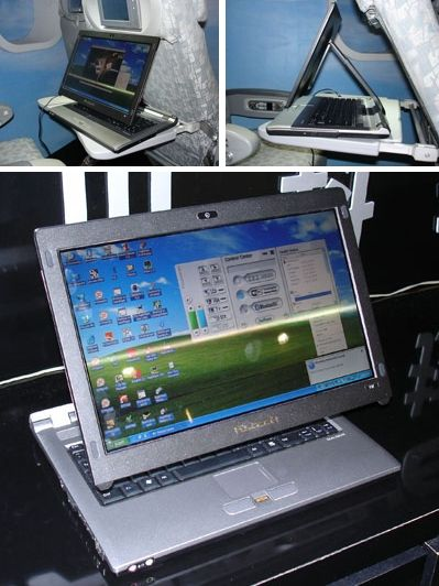 Dialogue's Flybook VM laptop with airline friendly telescoping screen