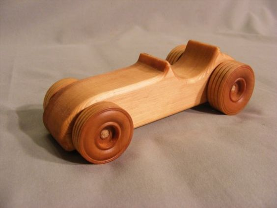 Wooden toy car vintage indy rod madeira toys and for Things to build with wood for kids