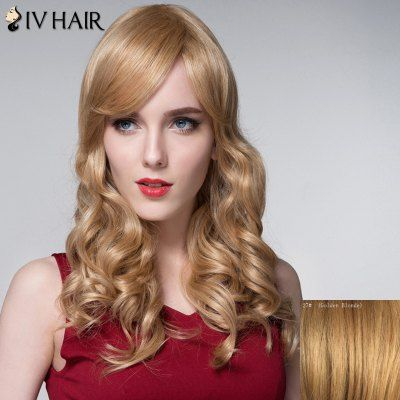 $59.48 (Buy here: http://appdeal.ru/ceyy ) Shaggy Wavy Capless Charming Long Side Bang Real Natural Hair Wig For Women for just $59.48