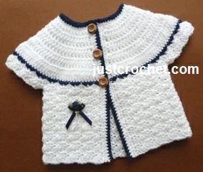 Free baby crochet pattern for matinee coat http://www.justcrochet.com/matinee-coat-usa.html #justcrochet: